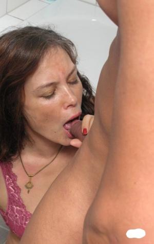 Sexy MILF Cum In Mouth