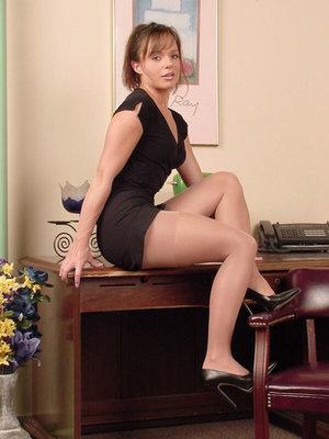 Sexy MILF In Skirt